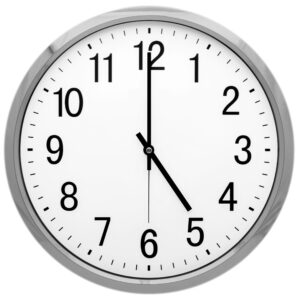 Photo of a wall clock